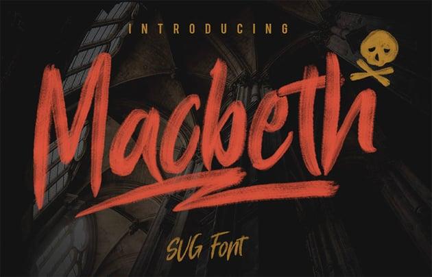 Macbeth Handwritten Brush Font