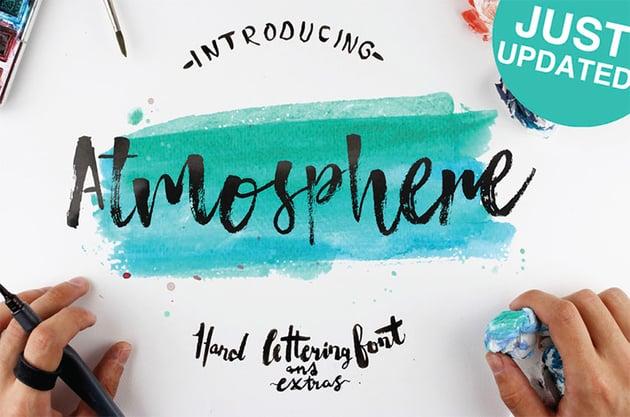Atmosphere Brush Font Free