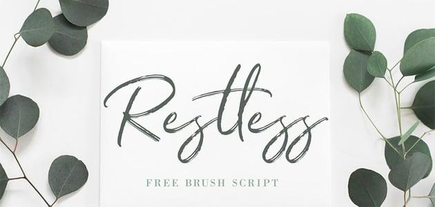 Restless Cursive Brush Font