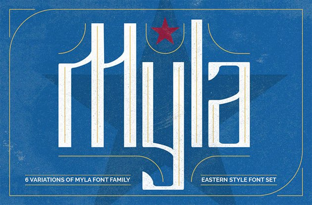 Myla Cyrillic Old Font