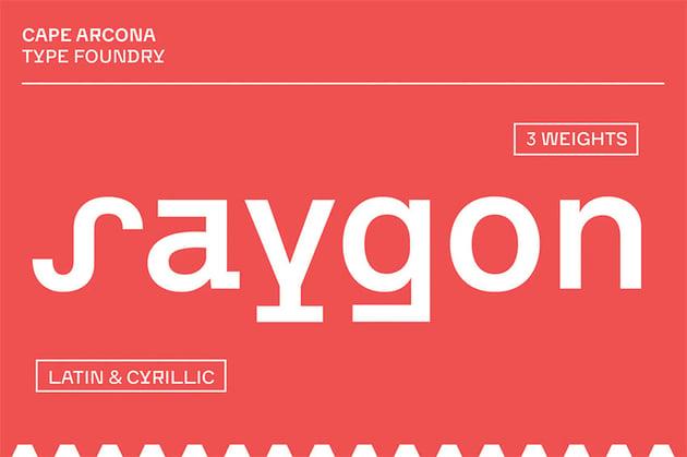 CA Saygon Cyrillic Style Font