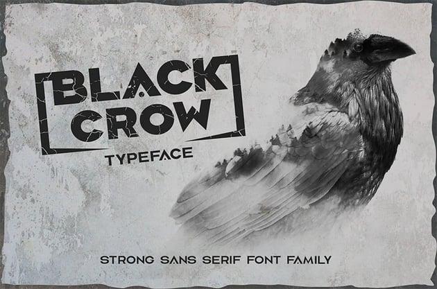 Black Crow Cyrillic Style Font