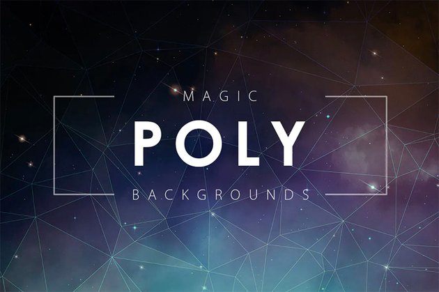 Magic Poly Backgrounds for Photoshop