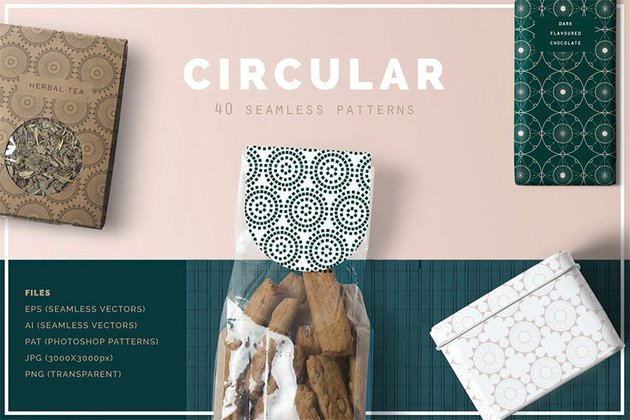Circular Backgrounds for Photoshop
