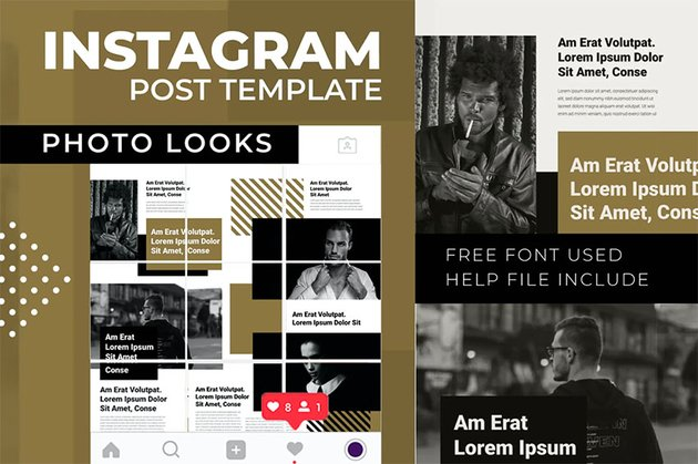 Photo Looks | Instagram Photo Grid Template