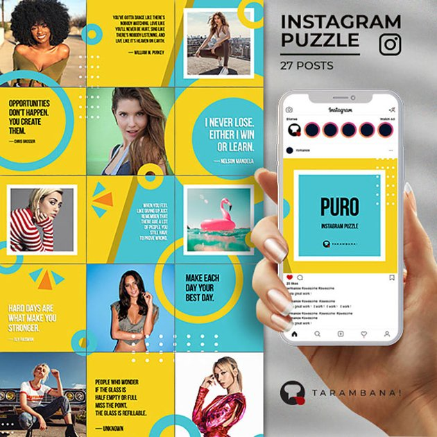 Puro - Instagram Grid Template