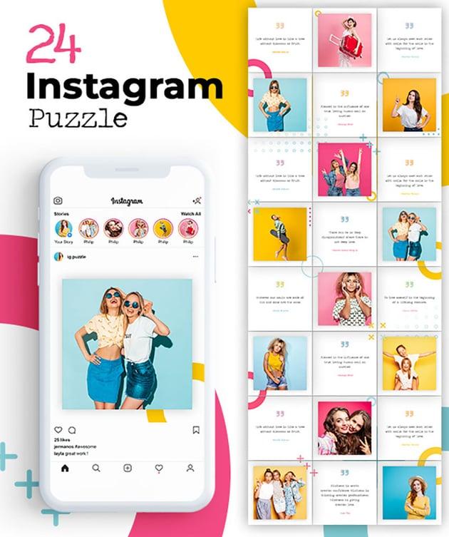 Instagram Photo Grid Photoshop Template