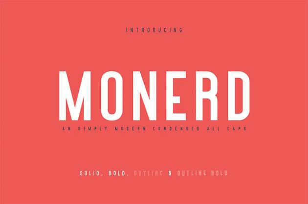 Monerd - Bold Sans Serif Fonts
