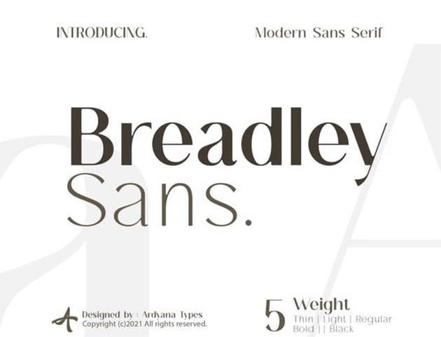 Breadley Free Sans Serif Font