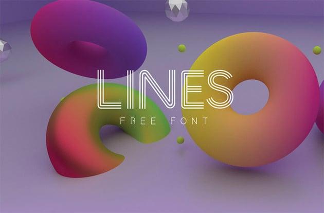 LINES Free Sans Serif Fonts