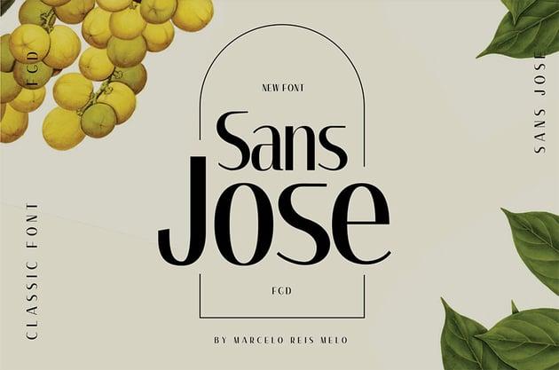 SANS JOSE Sans Serif Font Examples