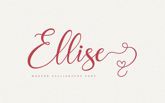 Ellise - Lovely Script Font