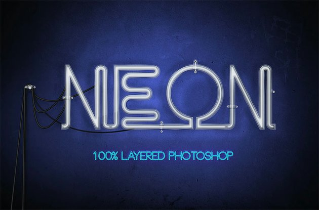 Neon Photoshop Text Effect Styles
