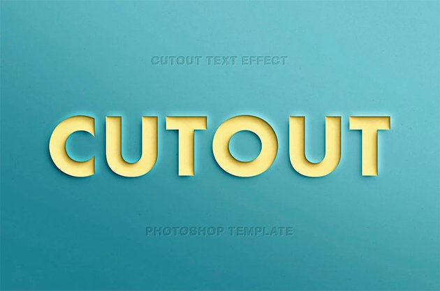 Papercut Photoshop Text Style