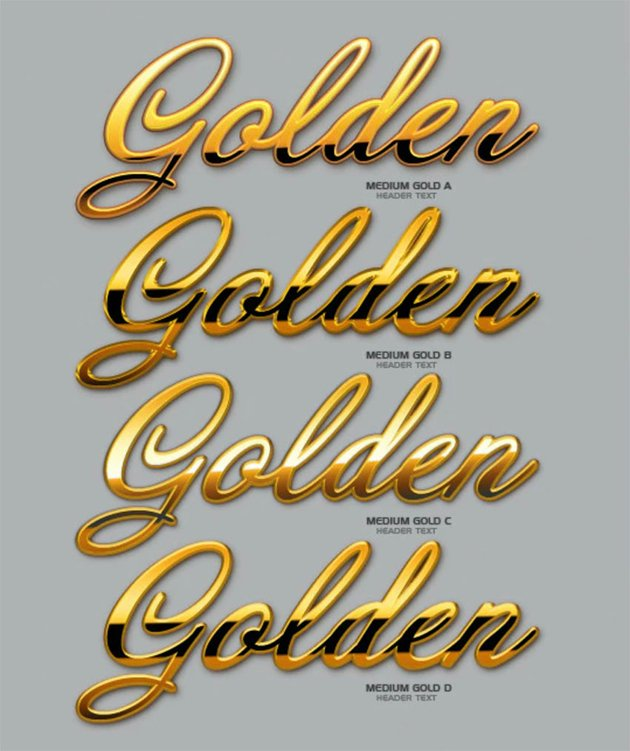 Silver and Gold Text Photoshop Style