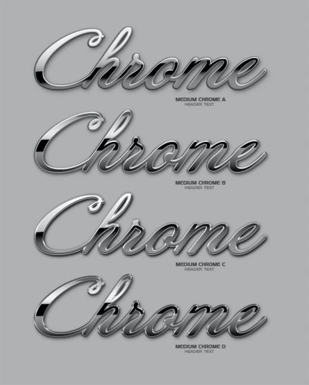 Ultimate Chrome Photoshop Text Styles Pack