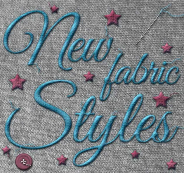 New Fabric Photoshop Text Styles