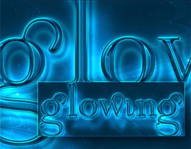 Glowing Light Style Text in Photoshop