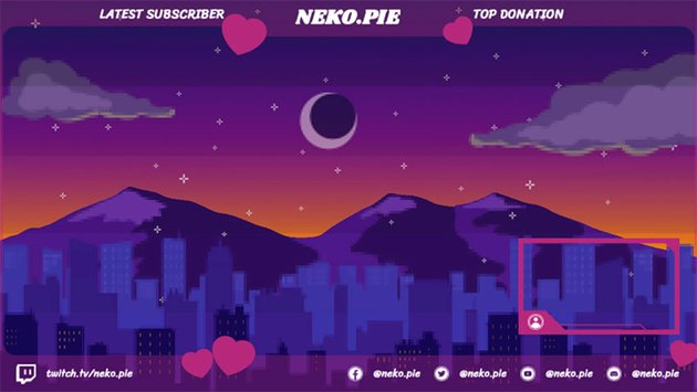 Free Twitch Overlay Template Featuring an Illustrated Night Sky