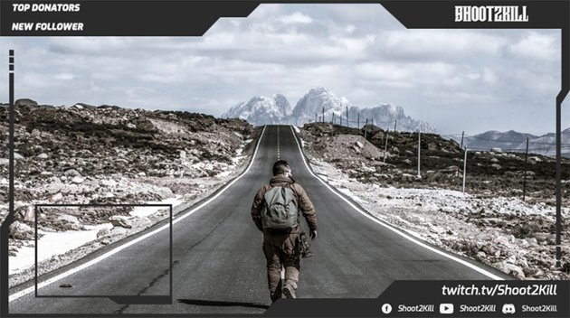 Twitch Camera Border for Shooting Games