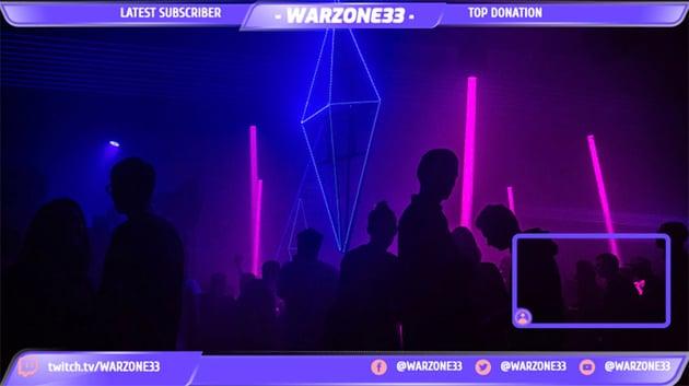 Stream Webcam Border with a Nightclub Setting Background