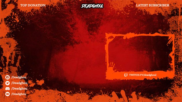 Bloody Twitch Webcam Border Template