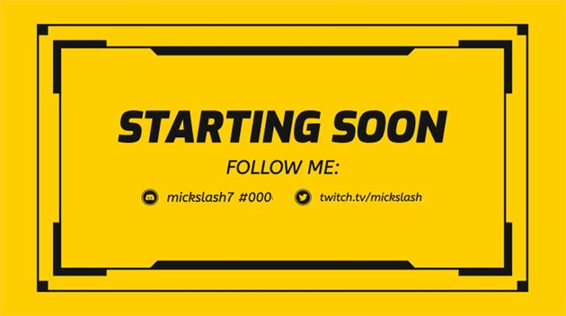 Simple Twitch Border Maker for a Starting Soon Live Stream
