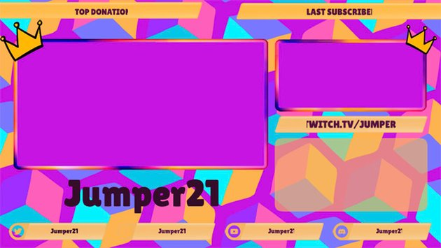 Gaming Twitch Overlay Template with Multiple Webcams