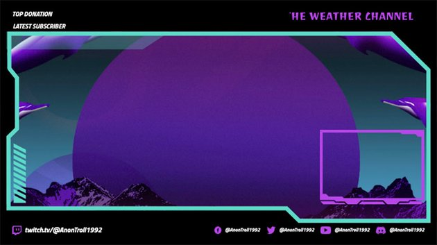 Stream Overlays for Free with Vibrant Background