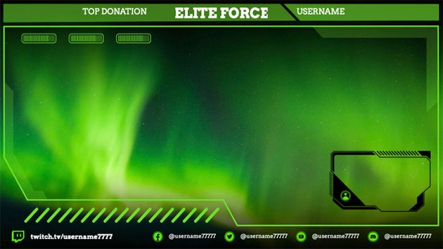 Custom Twitch Overlay Creator Featuring Backgrounds of Video Games