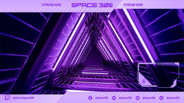 Futuristic Twitch Stream Overlay for a Space-Themed Gaming Channel