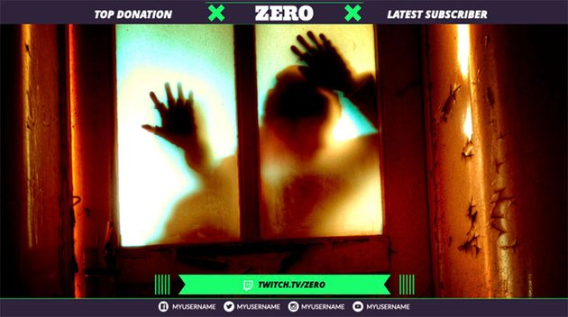 Twitch Overlay Creator for Horror Gaming Streamers