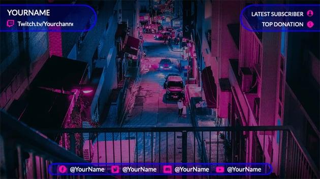 Twitch Stream Overlay Template