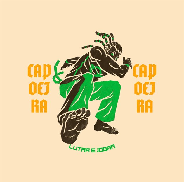 Streetwear Brand Logos with an Illustrated Man Doing Capoeira