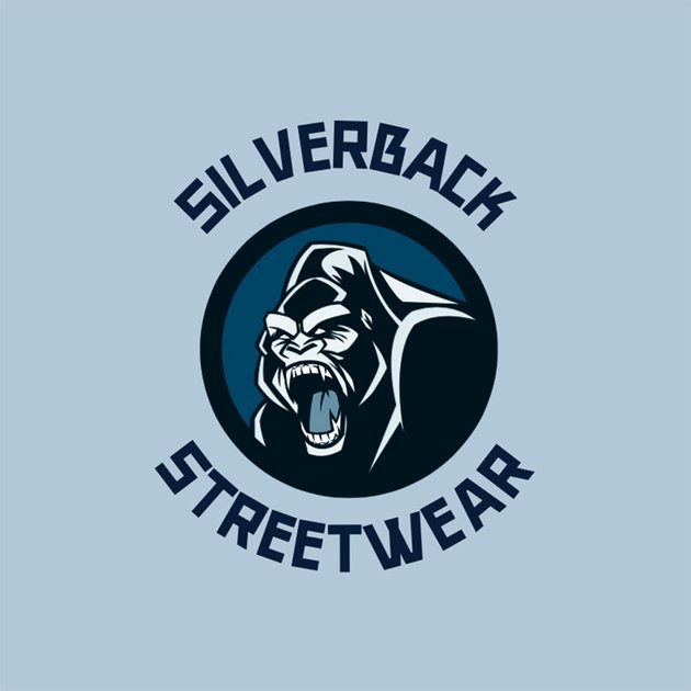 Street Style Clothing Brand Logo with an Angry Gorilla Graphic