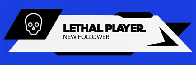 Twitch Follower Alert Template with a Skull Icon