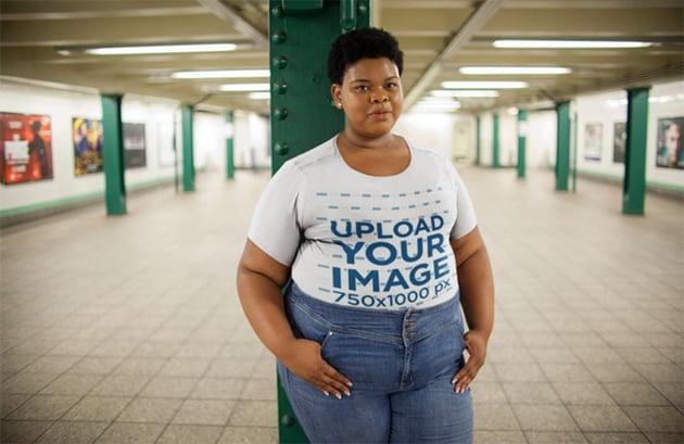 White Shirt Women's Plus Size Mockup