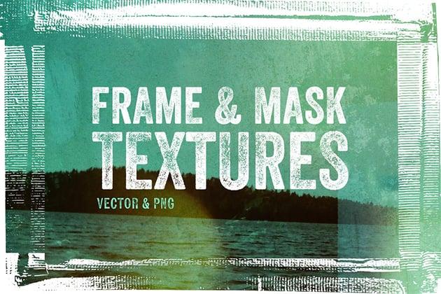 Frame & Mask Grunge Texture Overlays