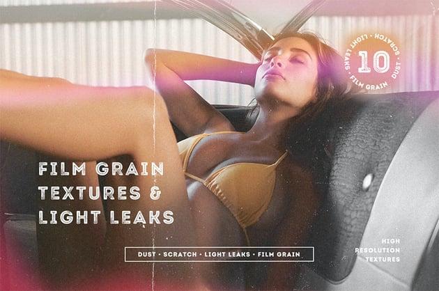 Film Grain Textures & Light Leaks