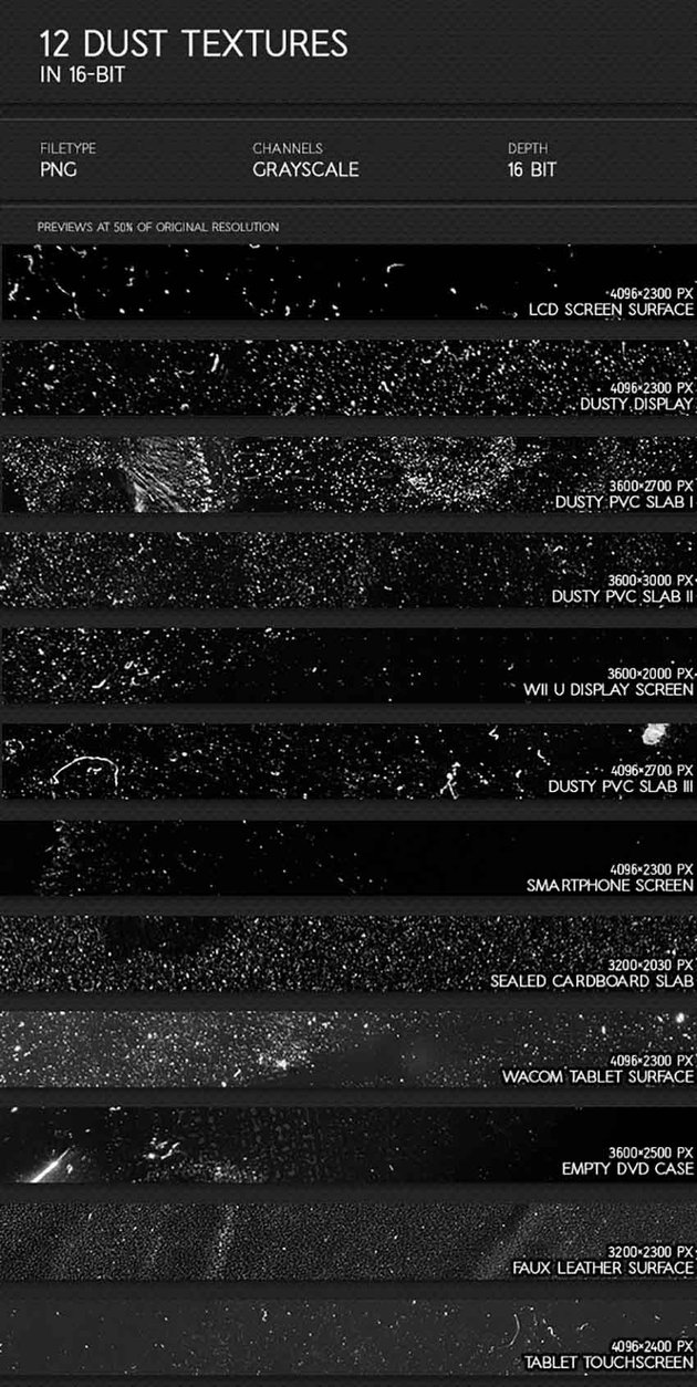 12 Dust and Scratches Overlay PNG
