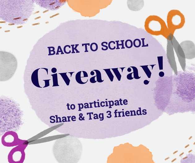 Back To School Giveaway Post Templates for Facebook