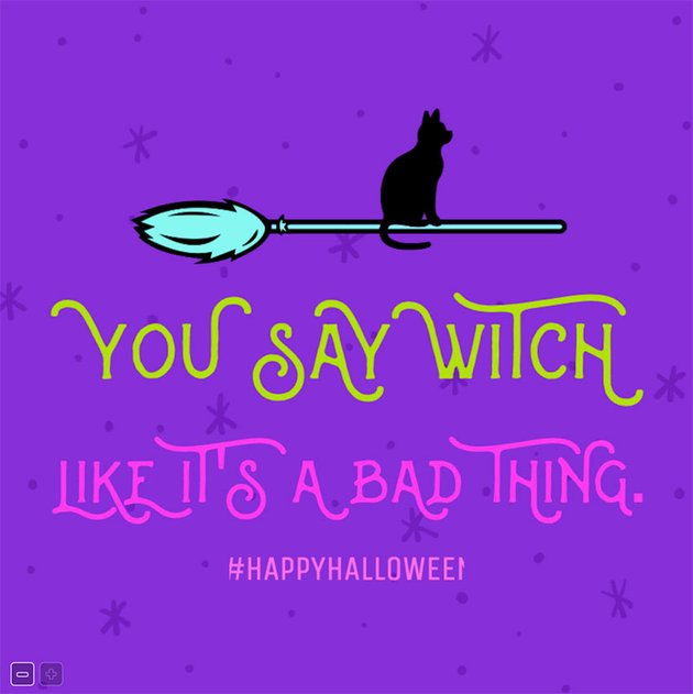 Cool Halloween Facebook Post Design with a Witch's Broom