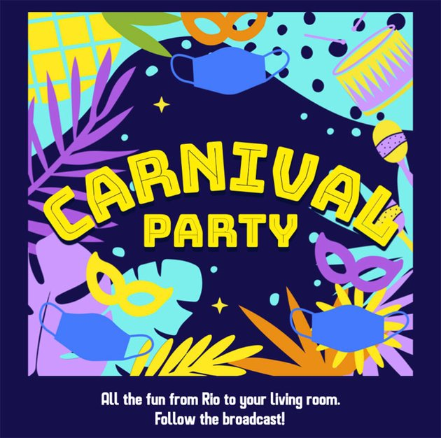 Facebook Post Maker to Announce a Brazilian Carnival Broadcast