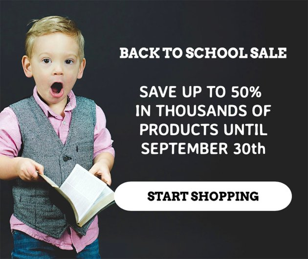 Fake Facebook Post Template for a Limited-Time Back-To-School Sale