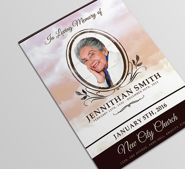 Loving Memory Funeral Bulletin Template