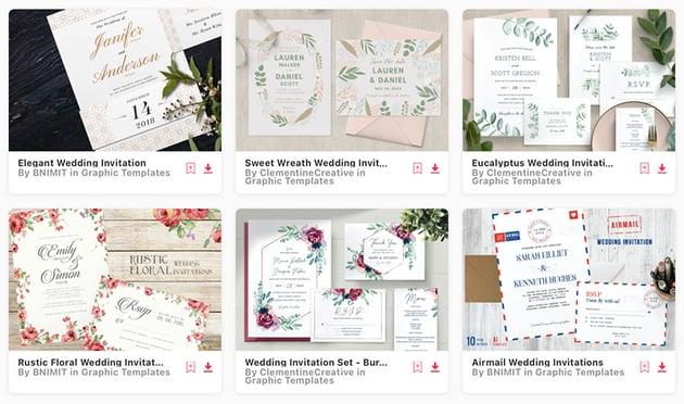 wedding program templates on Envato Elements