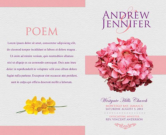 Flowery Wedding Program