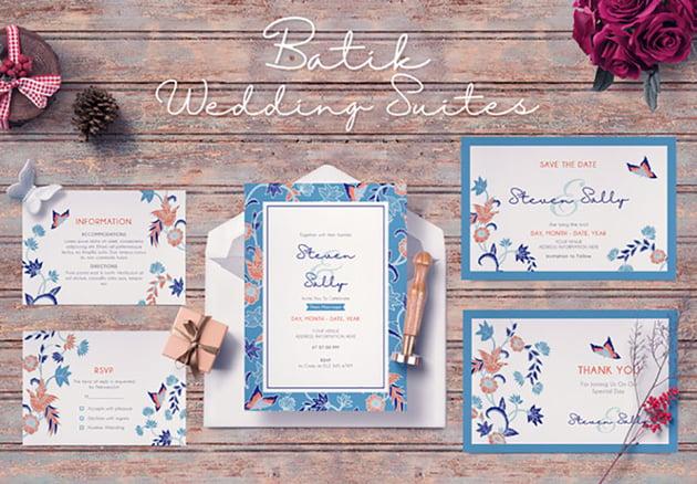 Floral Wedding Invitation Suites