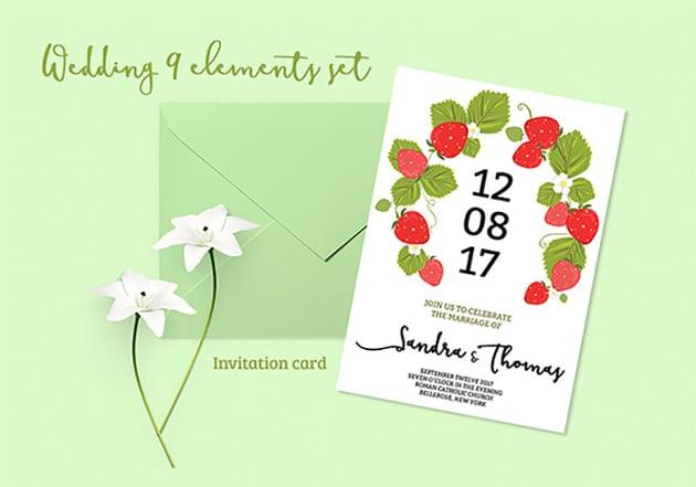 Summer Wedding Invitation Set