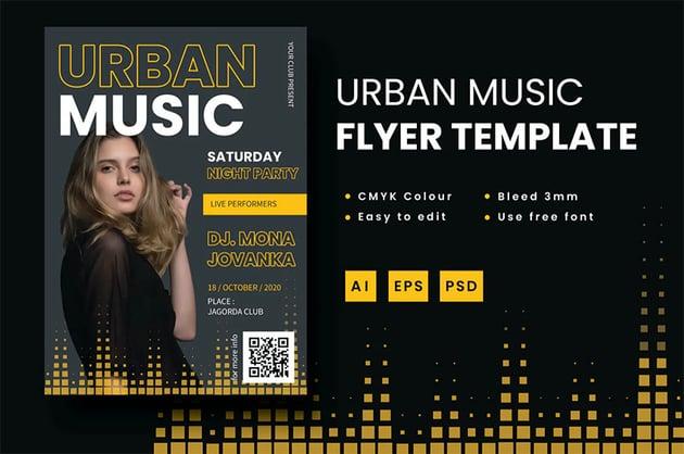 Urban Music Promo Flyer Template